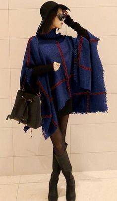 High Fashion Plaid Raw Edge Pashmina