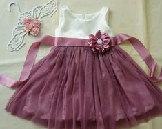 Ivory and dusty rose flower girl dress Rustic girl dress Tulle flower girl dress Toddler girls dress Flower girl gown Baby girl dress Toddler Flower Girl Dresses, Tulle Flower Girl, Ivory Flower Girl Dresses, Baby Girl Dresses, Toddler Dress, Baby Dress, Girl Outfits, Flower Girls, Toddler Girls