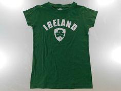 Traditional Craftwear Womens T Shirt Size S Small Green Ireland Crew Neck Lounge #TraditionalCraftwear #BasicTee