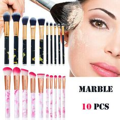 10x Makeup Brush Set tools Powder Foundation Eyeshadow Lip Eyeliner Blush