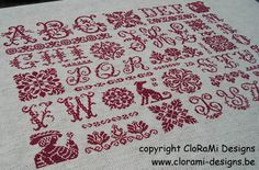 26 Letters Sampler www.clorami-designs.be