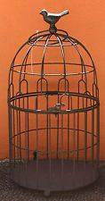 EXTRA   LARGE  Black  Metal  Bird Cage /  Wishing Well      BRAND NEW