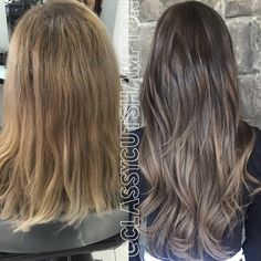 Happy Monday and Chinese New Year guys!! Here we have our lovely client Amy! She was ready for a change from her short blonde locks so Gave her a beautiful smokey ash brown to dark blonde balayage then added a full head pack of customised colored 20inch @lookatmehair Russian tape extensions!! Finished with a blending haircut and loose @cloudnineoz waving waves. #classycutshampton