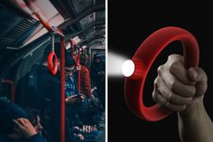 A Helping Handle for Subways Bus Interior, Yanko Design, Smart City, Cool Inventions, Creative Advertising, Handle, Lighting, Indian Gowns, Thesis