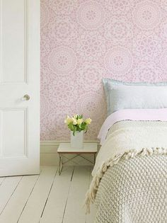 Lace wall stencil ¤ Lovely ♡