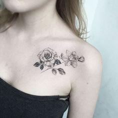 Esta fina linha de rose tattoo http://tatuagens247.blogspot.com/2016/11/50-magnifica-rosa-tatuagens.html