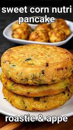 Beignets, Spicy Recipes, Cooking Recipes, Corn Recipes, Kitchen Recipes, Indian Dessert Recipes, Healthy Indian Recipes, Indian Snacks, Healthy Breakfast Recipes