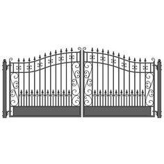 ALEKO-Venice-Style-Ornamental-Iron-Wrought-Dual-Driveway-Gate-16-039-High-Quality