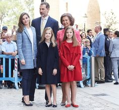 Spanish Royals attend the Easter Mass in Palma de Mallorca