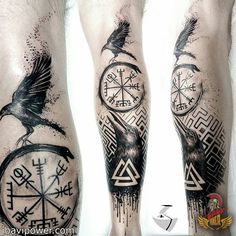 5 Ideas of Odin's Tattoos for Odin Worshippers Odin was among the most powerful and influential gods to the Vikings. There were many reasons why the Vikings worshipped Odin. In this day and age, Odin Viking Tattoo Sleeve, Viking Tattoo Symbol, Norse Tattoo, Viking Tattoo Design, Celtic Tattoos, Leg Tattoos, Body Art Tattoos, Sleeve Tattoos, Tattoos For Guys