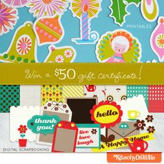 Enter for a chance to win a $50 gift certificate to Kitschy Digitals over at aliedwards.com! This weekend only.