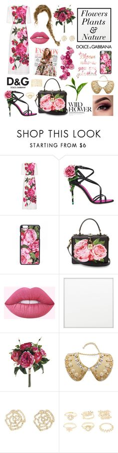 """""""Flowers/Plants/Nature - (Dolce&Gabbana)"""" by amber-the-stylist ❤ liked on Polyvore featuring Dolce&Gabbana, By Lassen, Gabor and Charlotte Russe"""