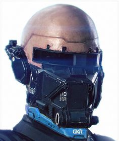 ELYSIUM droid head early concept art