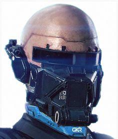 ELYSIUM droid head early concept art