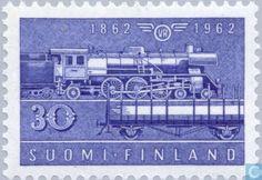 Finland - 100 years State Railways. 1962