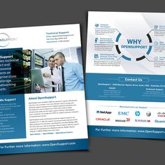 Create a clean, corporate overview collateral piece for a technology company by Create4Design