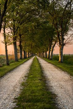 Old country road Beautiful Roads, Beautiful Landscapes, Beautiful World, Beautiful Places, Country Life, Country Roads, Wow Photo, Nature Aesthetic, Pathways