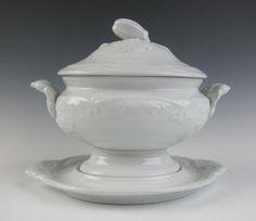 Antique White IRONSTONE JOHN WEDGEWOOD SAUCE TUREEN CHINA Wedgwood ENGLISH