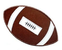 Football Applique - 3 Sizes! | Football | Machine Embroidery Designs | SWAKembroidery.com JesseKate Designs