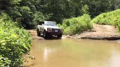 1997 Toyota Land Cruiser dropping into a small water hole. Land Cruiser 80, Toyota Land Cruiser, Water, Gripe Water