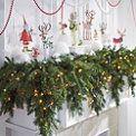 6' Cascading Christmas Garland - Grandin Road
