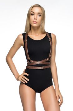 ✨ Please pay attention to shop ANNOUNCEMENT! ✨ OUR BESTSELLER! This variation of body harness is made of solid genuine leather of the highest quality. Due to wide straps and rather massive design, it looks great even with outdoor clothes! It is a very practical accessory that's why you can easily combine it with over-sized dresses or your favorite shirt. It will successfully complement your sexual and stylish look. Sizes: ❤ XS (bust - 81-84 cm/32-33; waist - 61-64 cm/24-25) ❤ S ...