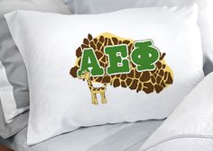 Alpha Epsilon Phi Sorority Pillowcase