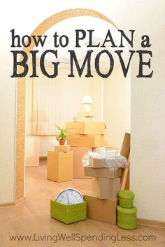 Moving is never fun, but a little planning can make the task a whole lot smoother! Whether you are moving across town or across the country (or even just thinking about it), don& miss these practical tips for how to plan a big move! Moving House Tips, Moving Home, Moving Day, Moving Tips, Moving Hacks, Moving Across Country Tips, Move On Up, Big Move, Move Move