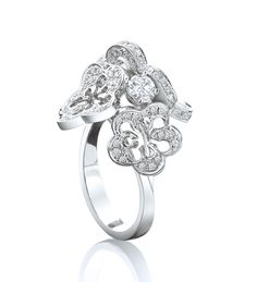 Blossom Cluster White Gold Diamond Ring. 18ct white gold with diamonds