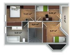 půdorys domu Pavla 9 Modern House Plans, Pavlova, Home Fashion, Architecture Design, How To Plan, House Styles, New Houses, Log Houses, Future House