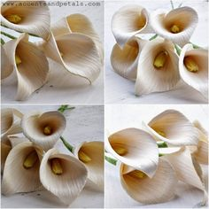 How to make calla lily flowers using dried corn husks                                                                                                                                                                                 More