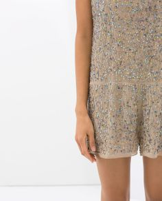 ZARA - NEW THIS WEEK - JUMPSUIT WITH SEQUIN EMBROIDERY