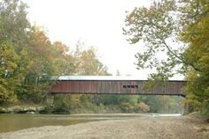 Cox Ford Covered Bridge    Built: 1913  Builder: Joseph A. Britton  Creek: Sugar Creek  Location: Located east of US 41, north of Indiana 47, and west of Turkey Run State Park.