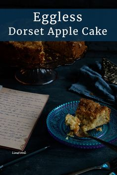 This easy Eggless Dorset Apple Cake has all the fruity, tangy and caramel flavours of the traditional apple cake, but perfect for those with an egg allergy. #egglessrecipes, #applecakes, #autumnrecipes, #linsfood Eggless Recipes, Apple Cake Recipes, Easy Cake Recipes, Best Dessert Recipes, Brunch Recipes, Fun Desserts, Sweet Recipes, Cupcake Recipes, Fall Recipes