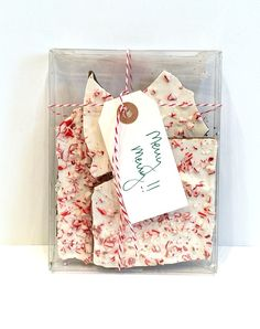 I love giving homemade gifts and peppermint bark is always a favorite! With only three ingredients, it's hard to go wrong. It's easy to make. Get the recipe