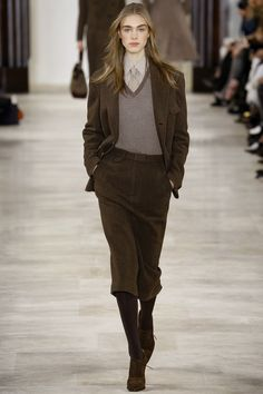 Ralph Lauren, New York Fashion Week, Herbst/Winter-Mode New York Fashion, Fashion Week, Runway Fashion, Fashion Show, Fashion Looks, High Fashion, Ralph Lauren New York, Ralph Lauren Style, Ralph Lauren Collection