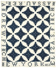Oak Leaf variation  1853  New England Quilt Museum--Need to do the pieced letters border again sometime soon.