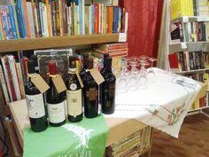 Libreria Aleph @ castelfidardo - giugno 2016. Presentazione de Lo specchio dell'uomo. Selezione di vini della cantina Armillaria