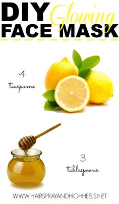 DIY Lemon And Honey Face Mask