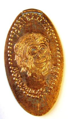 Elongated Penny Coin JHON BALL ZOO - MOKOMBOSO VALLEY CHIMPANZEE - MI