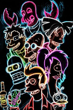 "More #Futurama art? why not ""Futurama Neon"" by AlanSchell"