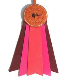 Hermes Rose Jaipur Rose Shocking Rouge H Paddock Flot Horse Ribbon Charm