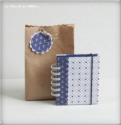 Bolsa de regalo combinada con libreta de notas
