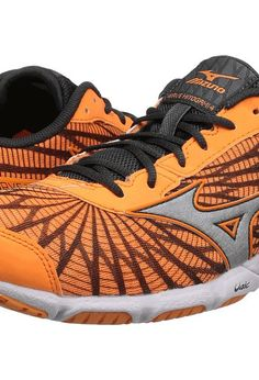 mizuno wave hitogami orange pop dark shadow white womens running shoes