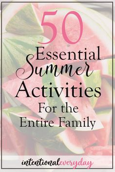 50 Essential Summer Activities for Your Family « intentionaleveryday Fun Activities For Kids, Family Activities, Starting A Bible Study, Making Homemade Ice Cream, Raising Godly Children, Silly Pictures, Crafts For Seniors, Family Values, Family Game Night