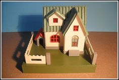 "Putz house by Karl Fey,""Lakie"" by mcudeque, via Flickr  (all it needs is ""glitter"")"
