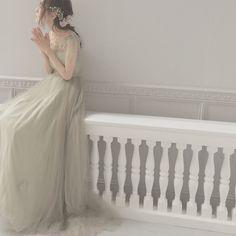 Maison SUZUさんはInstagramを利用しています:「モスグリーンのドレス 秋にぴったりのカラードレスです*」