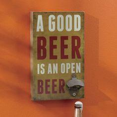 Beer Bottle Opener Wall Sign $20