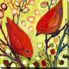 "Artist: Jennifer Lommers Size: 18"" x 18"" x 0.75"" Product Type: Gallery Wrapped Canvas"