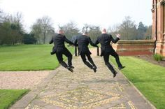 Harness Energy in Photo Poses - Creative Wedding Poses for Groomsmen [Slideshow]